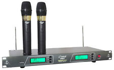PDWM2550 19'' Rack Mount Dual VHF Wireless Rechargeable Handheld Microphone Syst