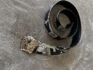 Authentic Versace Medusa Head Multicolor Leather Belt 28-32 Waist Reversible