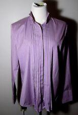 Women's AMERICAN LIVING Lavender Mock Neck Button Shirt Size L