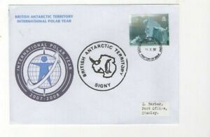 2007/8 BRITISH ANTARCTIC - POLAR YEAR - SIGNY CDS FDC FROM COLLECTION L10