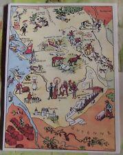 Carte de France Illustrées d'après Pinchon Ile d'oléron Cognac Angoulême Niort