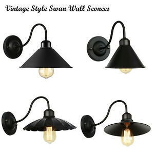 Modern Industrial Vintage Retro Black Sconce Wall Light Lamp Fitting Fixture