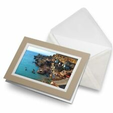 Greetings Card (Biege) - Awesome Anchor Bay Malta  #8997