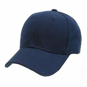 Bulk Lot 12 Plain Baseball Caps Dark Blue Hat Cap New
