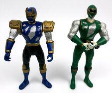 2003 Power Rangers Ninja Storm Ninja Battle Navy Thunder Green Samurai Lot
