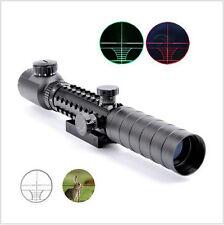 Power 3-9X32EG Red/Green Crosshair Rangefinder Rifle Scope 20mm Mount Reticle