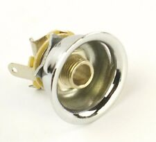 Vintage Cup style Guitar Output With Jack and Retaining Clip Fits Tele ,Chrome