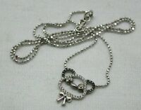 Very Pretty 18ct White Gold Black And White Diamond Set Necklace