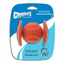 Chuckit Durable Rubber Dog Toy Fetch Roller Rolling Wheel Ball - Wheelie  Medium