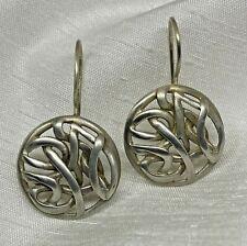 Silpada .925 Sterling Silver Byzantine Intertwined Disc Earrings W1690