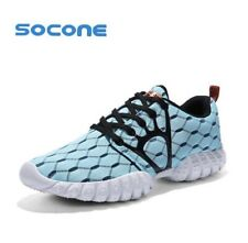 SOCONE Women Mesh Running Shoes Light Blue Women's Lightweight EUR 41 (8)