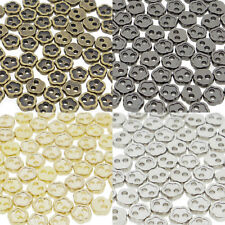 4mm Flower DIY Doll Clothes Sewing Sew On Plated Metal Miniature Buttons 60pcs