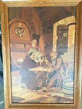 Buchschmid & Gretaux Marquetry Wood Inlay Framed Picture with Vase of Flowers