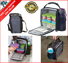 Cooler Insulated Lunch Box Bag Storage for Food Containers Kids School Picnic