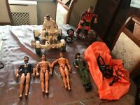 VINTAGE ACTION MAN 90's SPACE BUGGY SKATEBOARD PARACHUTE AND 6 ACTION MEN
