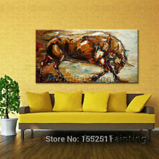 LMOP76 100% hand-painted MODERN abstract bull OIL PAINTING ART wall on CANVAS