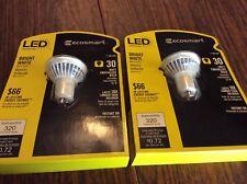 2 Eco Smart 30W Equivalent Bright White (3000K) MR16 Led Flood Light Bulbs GU10