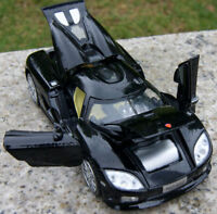 Diecast Black 1:32 Scale Koenigsegg light&sound Collection Sport Race Car Model