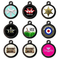 Personalised Pet Dog Cat Name ID Tags Cool Custom Identification - Engraved FREE
