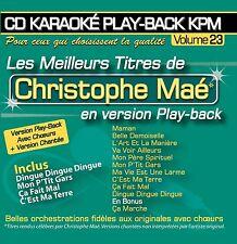 "RARE! CD NEUF ""LES MEILLEURS TITRES DE CHRISTOPHE MAE"" karaoke"