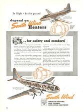 1950 South Wind Heat Exchanger Ad Martin 2-0-2 Boeing 377 Stratocruiser Airplane