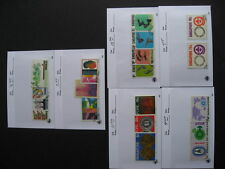 SINGAPORE used sets with first day cancels in sales cards