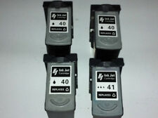 4 pk Canon PG-40 Black & CL41 colour Ink Cartridges Remanufactured