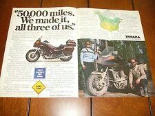 1984 YAMAHA VENTURE 1200 CC  ***ORIGINAL 2 PAGE AD***  RARE!!!!