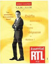 PUBLICITE ADVERTISING  1982   RTL radio  JULIEN COURBET
