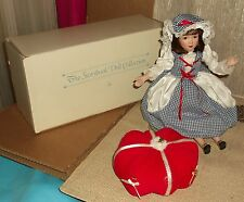 Danbury Mint Little Miss Muffet Porcelain Doll with Tuffet & Box No Spider