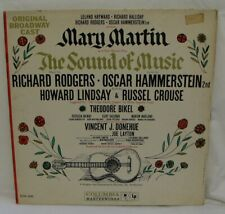 THE SOUND OF MUSIC ORIGINAL BROADWAY CAST RECORDING LP, MARY MARTIN THEO.  BIKEL