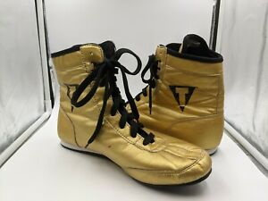 Title Men's Boxing Shoes Size 10 Gold Shipped Fast Great Condition Metallic