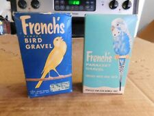 TWO DIFFERENT BOXES OF UNOPENED VINTAGE FRENCH'S BIRD GRAVEL MIX GREAT GRAPHICS