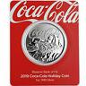 2019 Fiji Coca Cola Santa Holiday 1 oz Silver $1 Coin GEM Prooflike OGP SKU59918