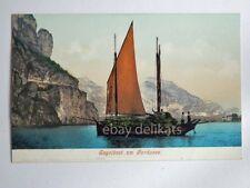 LAGO DI GARDA Segelboot Gardasee barca vela vecchia cartolina 2650