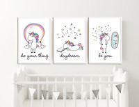 Unicorn Prints / Pictures for Girls Bedroom / Nursery Magical, Unicorn, Rainbow
