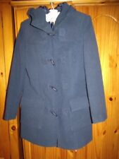 Cotton Traders AD10113 Navy Blue Velour Duffle Coat 10