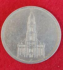 Deutsches Reich 5 Mark 1935 A ss-vz Garsonskirche Silbermünze Km#83