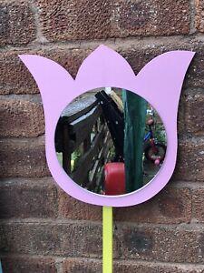 Children's Outdoor Tulip Mirrors Garden Handmade Sensory EYFS Acrylic