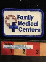 Advertising Patch ~ FAMILY MEDICAL CENTERS ~ Doctor Medicine Blue Cross 59Q3
