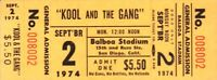 KOOL AND THE GANG 1974 LIGHT OF WORLDS TOUR UNUSED SAN DIEGO CONCERT TICKET