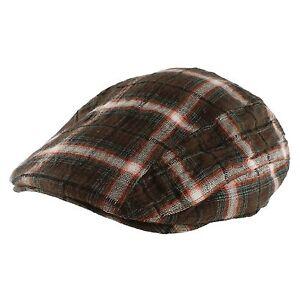 Plaid Gatsby Golf Cotton Newsboy Cabbie Cap Hat Mens Womens Unisex Year Round