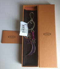 NWT Authentic TOD's Gorgeous Silver-Tone Chunky Keychain with Charms