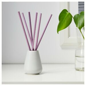 NEW IKEA NJUTNING Vase with 6 scented sticks Lavender bliss/lilac Parfum Odour