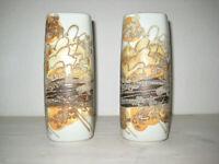 dänische Fajance Vasen Paar Royal Copenhagen Ellen Malmer Denmark Pair 60s Vases