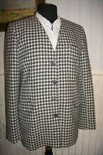 Veste blazer laine cachemire/angora noir/blanc BURBERRYS 38/40 pied de poule