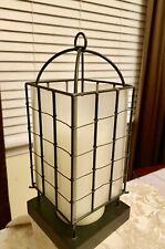 Beautiful Black Metal Squares Stagecoach Candle Lantern