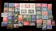 United Nations first 42 MNH stamps 1951 to 1956 includes key 38 souvenir sheet
