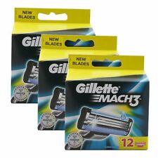 36 Gillette Mach3 Rasierklingen Ersatzklingen 3 x 12 Klingen Mach 3 NEU OVP