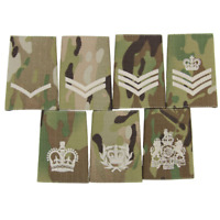 BRITISH ARMY MULTICAM PCS STYLE UNIFORM RANK SLIDES-SOLD IN PAIRS